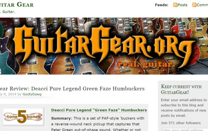 Read the latest review of our Deacci GreenFaze humbuckers